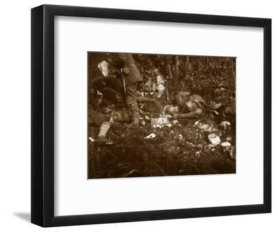 Aftermath of battle, c1914-c1918-Unknown-Framed Photographic Print