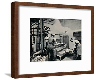 'Removing Biscuits from Oven', c1917-Unknown-Framed Photographic Print