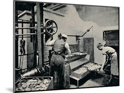 'Removing Biscuits from Oven', c1917-Unknown-Mounted Photographic Print