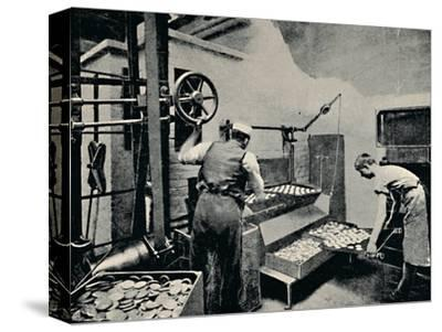 'Removing Biscuits from Oven', c1917-Unknown-Stretched Canvas Print