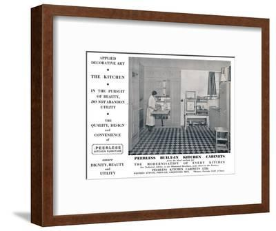 'Peerless Built-In Kitchen Cabinets', 1935-Unknown-Framed Photographic Print