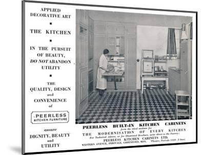'Peerless Built-In Kitchen Cabinets', 1935-Unknown-Mounted Photographic Print