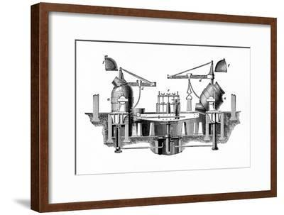 'Bessemer's Steel-converting Apparatus', c1917-Unknown-Framed Giclee Print