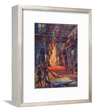 'Steel Rolling', c1917-Unknown-Framed Giclee Print
