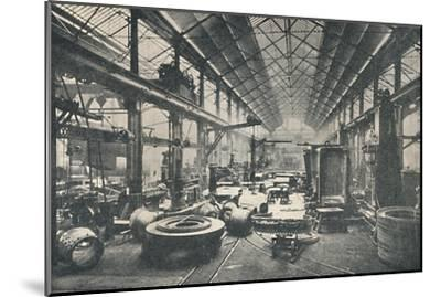 'Scene in a Boiler-shop', c1917-Unknown-Mounted Giclee Print