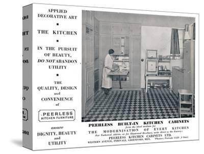 'Peerless Built-In Kitchen Cabinets', 1935-Unknown-Stretched Canvas Print