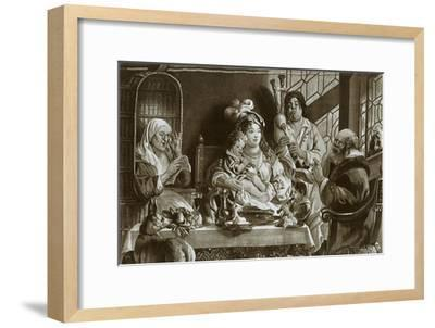 'Soprano recorders and bagpipes; Brussels gobelin designed by Jacobus Jordaens', 1948-Unknown-Framed Giclee Print