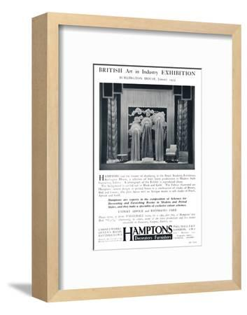 'British Art in Industry Exhibition - Burlington House, January', 1935-Unknown-Framed Photographic Print
