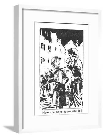 'How the boys appreciate it!', 1940-Unknown-Framed Giclee Print
