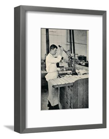 'Stamping Blocks of Soap', c1917-Unknown-Framed Photographic Print