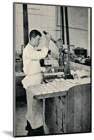 'Stamping Blocks of Soap', c1917-Unknown-Mounted Photographic Print