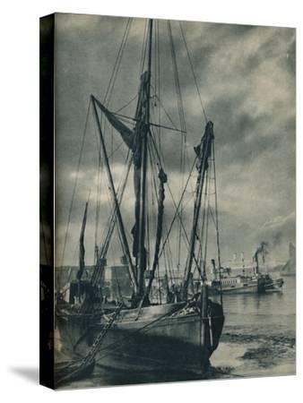 'Below the Bridges', 1936-Unknown-Stretched Canvas Print