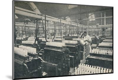 'The Candle-moulding Room', c1917-Unknown-Mounted Photographic Print