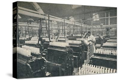 'The Candle-moulding Room', c1917-Unknown-Stretched Canvas Print