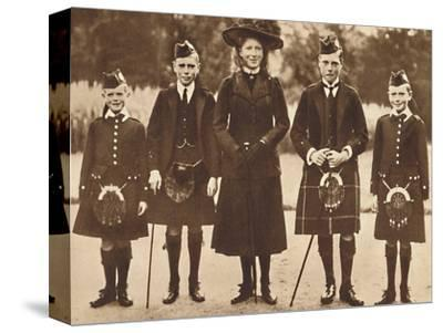 'The Children of King George V and Queen Mary', c1910, (1937)-Unknown-Stretched Canvas Print