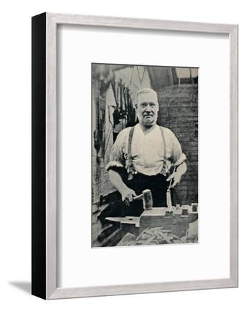 'Forging a Blade', c1917-Unknown-Framed Photographic Print