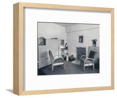 'Rowley Gallery of Decorative Art Ltd - Combined dining-living-room closed', 1939-Unknown-Framed Photographic Print