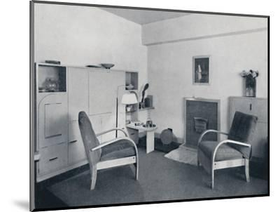 'Rowley Gallery of Decorative Art Ltd - Combined dining-living-room closed', 1939-Unknown-Mounted Photographic Print