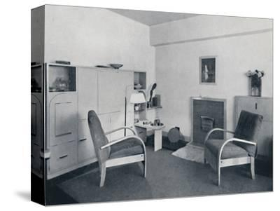 'Rowley Gallery of Decorative Art Ltd - Combined dining-living-room closed', 1939-Unknown-Stretched Canvas Print