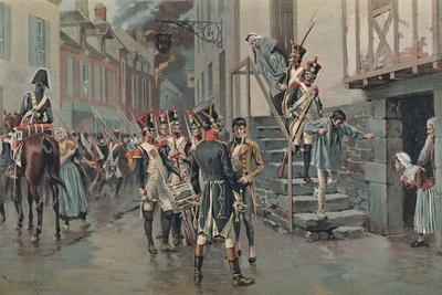 'Arresting Deserters', 1896-Unknown-Framed Giclee Print