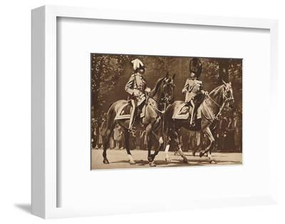 King Edward at the head of the Brigade of Guards, turns, unperturbed-Unknown-Framed Photographic Print