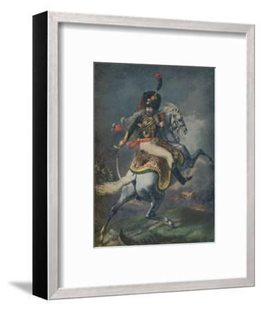 'Officer of the Mounted Chasseurs Charging. (Imperial Guard)', c1812, (1896).-Unknown-Framed Giclee Print