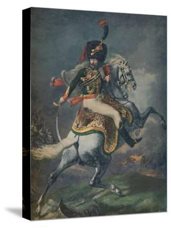 'Officer of the Mounted Chasseurs Charging. (Imperial Guard)', c1812, (1896).-Unknown-Stretched Canvas Print
