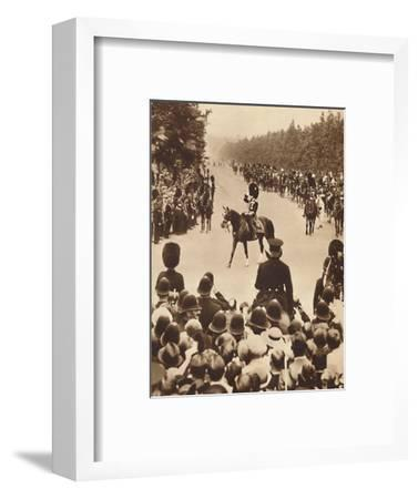 'Trooping the Colour Pageantry', 1937-Unknown-Framed Photographic Print