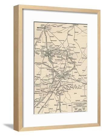 'Campaign of 1815. June 15th to 19th', (1896).-Unknown-Framed Giclee Print
