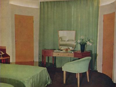 'A bedroom in a house at Portland Place, designed by Ian Henderson & Co. of London', 1935-Unknown-Framed Photographic Print