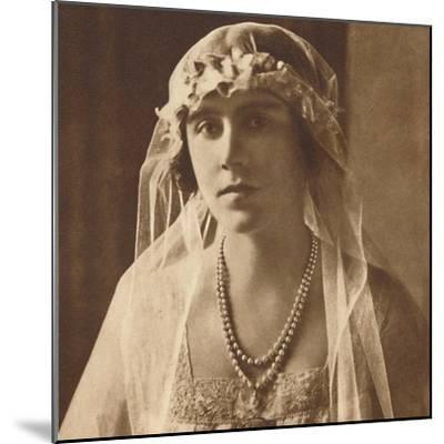 'Bridesmaid at wedding of Princess Mary and Viscount Lascelles, 1922', (1937.)-Unknown-Mounted Photographic Print