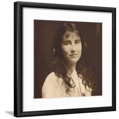 'Lady Elizabeth Bowes-Lyon as a young girl', c1917, (1937)-Unknown-Framed Photographic Print
