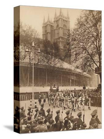 'Acclaimed by Thousands at Westminster', May 12 1937-Unknown-Stretched Canvas Print