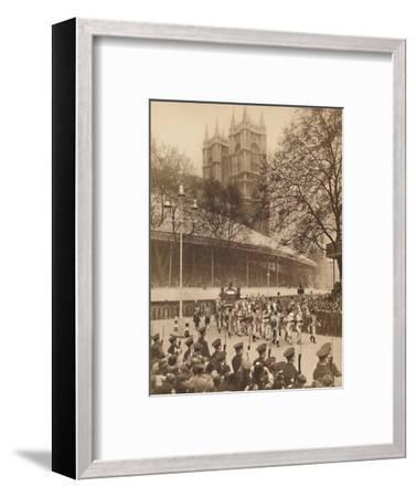 'Acclaimed by Thousands at Westminster', May 12 1937-Unknown-Framed Photographic Print