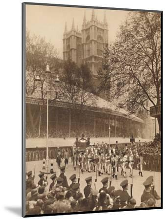 'Acclaimed by Thousands at Westminster', May 12 1937-Unknown-Mounted Photographic Print