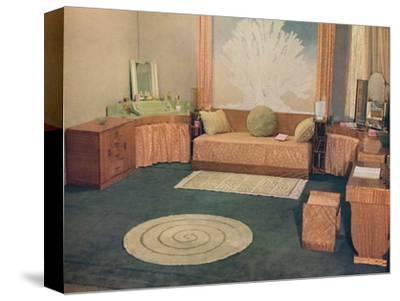 'A small bedroom, arranged by Heal & Son Ltd., of London', 1935-Unknown-Stretched Canvas Print