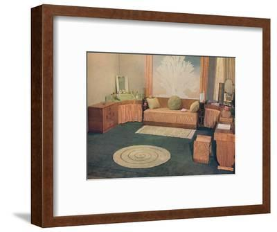 'A small bedroom, arranged by Heal & Son Ltd., of London', 1935-Unknown-Framed Photographic Print