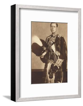 'As Colonel-in-Chief, The Seaforth Highlanders', 1937-Unknown-Framed Photographic Print