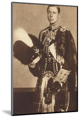 'As Colonel-in-Chief, The Seaforth Highlanders', 1937-Unknown-Mounted Photographic Print