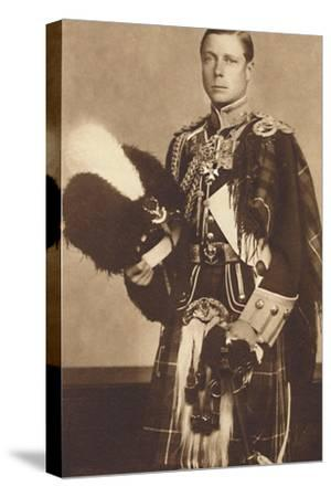 'As Colonel-in-Chief, The Seaforth Highlanders', 1937-Unknown-Stretched Canvas Print