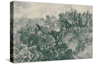'The Ravine at Waterloo', 1815, (1896)-Unknown-Stretched Canvas Print