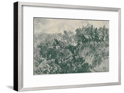 'The Ravine at Waterloo', 1815, (1896)-Unknown-Framed Giclee Print