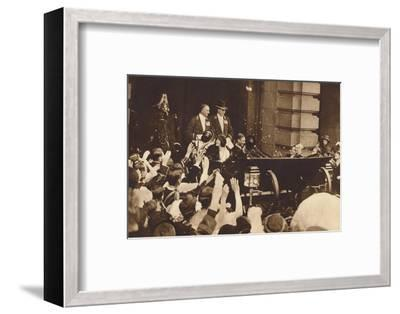 'Rose-Petal Shower', 26 April 1923, (1937)-Unknown-Framed Photographic Print