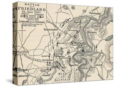 'Battle of Friedland, 14 June 1807', (1896)-Unknown-Stretched Canvas Print