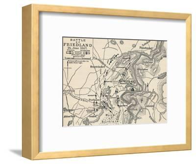 'Battle of Friedland, 14 June 1807', (1896)-Unknown-Framed Giclee Print