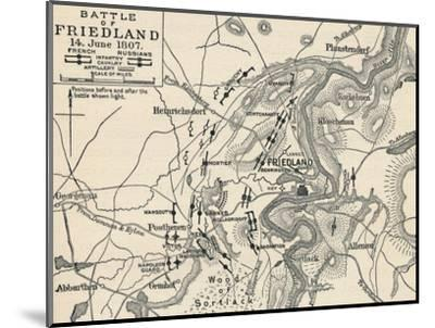 'Battle of Friedland, 14 June 1807', (1896)-Unknown-Mounted Giclee Print