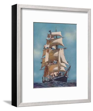 'A Training Ship for Fifty-Two Years, the Joseph Conrad is now registered as a yacht', 1937-Unknown-Framed Photographic Print