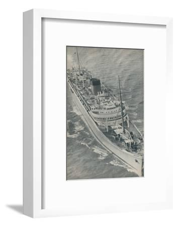 'A Twin-Screw motorship, the Stirling Castle built by Harland and Wolff', 1937-Unknown-Framed Photographic Print