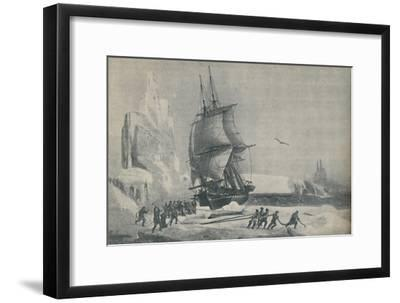 'French Antarctic Expedition under Captain JSC Dumont d'Urville, August 1833', 1937-Unknown-Framed Giclee Print