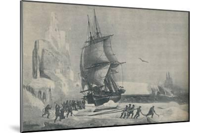 'French Antarctic Expedition under Captain JSC Dumont d'Urville, August 1833', 1937-Unknown-Mounted Giclee Print